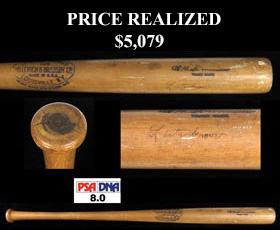 Al Simmons 1929 Game-Used Baseball Bat Signed Autographed by Lefty Grove - PSA/DNA GU-8 and Full JSA