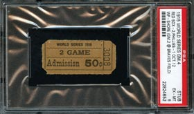 1915 World Series Braves Field Game 4 PSA 6 Ticket Stub - Highest Graded