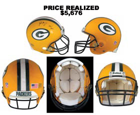 Brett Favre 2001 Signed Game-Worn Green Bay Packers Helmet - With Favre Letter and Photo