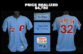 Steve Carlton Signed Game-Worn 1977 Philadelphia Phillies Road Jersey - Full JSA