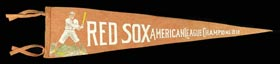 Exceedingly Rare 1912 Red Sox American League Champions Felt Pennant - Likely One of Only Two Known!