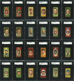 Incredible 1911 T205 Gold Borders Near Master Set of (221/222) SGC Graded Cards--Highest SGC Grade Average!