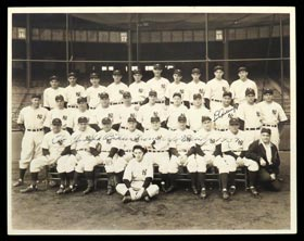 Superb 1937 New York Yankees A.L. Champions 11x14 Team Photo Signed by Lou Gehrig and Joe McCarthy