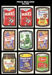 1967-1968 Topps Wacky Packages Complete Set of (44) with (2) Number Variations