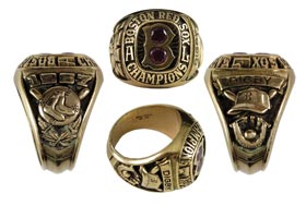1967 Boston Red Sox American League Champions 10K Ring Given to Scout George Digby