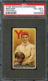 1888 N162 Goodwin Champions Harry Beecher PSA VG-EX+ 4.5--First Football Card!