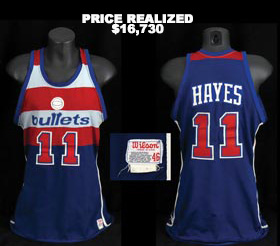 Elvin Hayes 1980-81 Washington Bullets Game-Worn Game Used Road Jersey