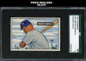 1951 Bowman Baseball Mickey Mantle Rookie SGC 60 EX 5