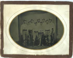 Incredibly Rare Circa 1870s Baseball Team Full Plate Tintype