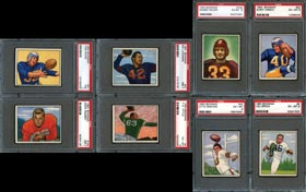 1950 Bowman Football Complete PSA Graded Set (144/144)--#23 on Registry