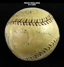 1922 World Champion New York Giants Team-Signed Ball With Mathewson, McGraw and Full JSA