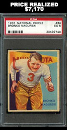 1935 National Chicle #34 Bronko Nagurski PSA EX 5