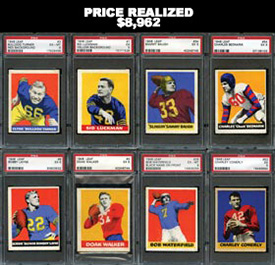 1948 Leaf Football Complete Set of (98) PSA Graded Cards--#19 on Registry