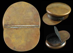 1869 Cincinnati Red Stockings Commemorative Brass Ashtray
