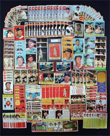 Mickey Mantle Topps Baseball Card Lot of (158) Total Cards