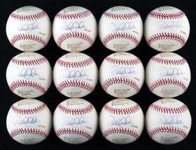 Derek Jeter Single-Signed LE Baseball Lot of (12/22) - Steiner
