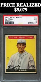 1933 Sport Kings #1 Ty Cobb PSA EX 5