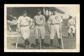 Extremely Rare Joe Jackson/Ty Cobb/Nap Lajoie Vintage Real-Photo Postcard