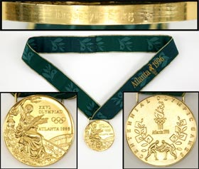 1996 Olympic Gold Medal from Atlanta Wrestler Kendall Cross