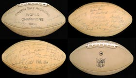 1967 Super Bowl Champion Green Bay Packers Team-Signed Football With Lombardi, Nitschke, Starr and Full JSA