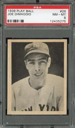 1939 Play Ball Joe DiMaggio Baseball Card PSA NM-MT 8