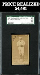 "1887 N172 Old Judge Pud Galvin SGC 86 NM+ 7.5 - ""1 of 1"" with None Higher"