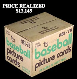 1978 Topps Baseball Factory Sealed Rack Case