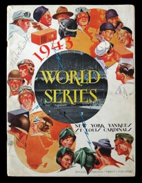 Babe Ruth Signed 1943 World Series Program at New York - Full JSA