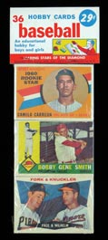 1960 Topps Baseball Series 2 Unopened 36-Card Rack Pack from Variety Shop Find