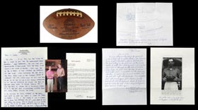 Actual Game Used Football Thrown From Johnny Unitas To Raymond Berry for Touchdown Pass in 1958 NFL Championship Game with Impeccable Provenance