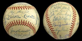 1961 New York Yankees World Champions Team Signed Ball (26 Signatures) with Mantle and Maris - No Clubhouses!