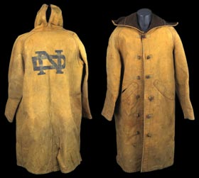 Circa 1929 Lowe & Campbell University of Notre Dame Football Game Worn Sideline Jacket/Cape