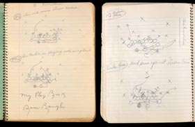 1935-36 Sammy Baugh Period-Signed Personal Texas Christian University Football Playbook with Full JSA