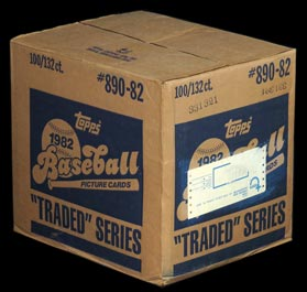 1982 Topps Baseball Traded Sealed 100 Set Case with Cal Ripken Jr Rookie Card