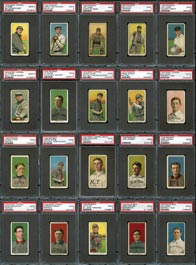 1909-11 T206 White Border PSA Graded Good 2 Cards (83) with (17) Hall of Famers Including (2) Young, Cobb & Mathewson