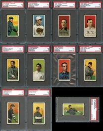 1909-11 T206 White Border PSA VG 3 Graded Cards (136) with (19) Hall of Famers/Southern Leaguers Including Johnson & Young