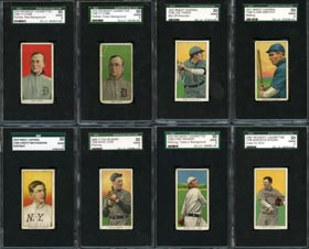 1909-11 T206 White Border SGC 30 Good 2 Graded Cards (77) with (15) Hall of Famers Including (2) Cobb