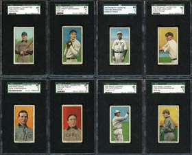 1909-11 T206 White Borders Group of (82) SGC 40 VG 3 Graded Cards with (10) Hall of Famers Including Mathewson