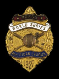 1927 New York Yankees World Series Press Pin