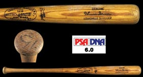 1969-72 Thurman Munson Game-Used Bat - PSA/DNA GU 6