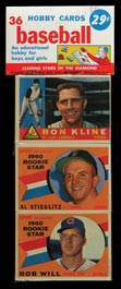 1960 Topps Baseball Series 2 Unopened 36-Card Rack Pack�New Find!