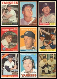 1957-1969 Topps Mickey Mantle Group of (29) Cards with Inserts