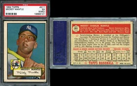 1952 Topps #311 Mickey Mantle - PSA EX 5 (MC)