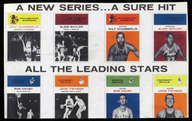 Extremely Rare 1961-62 Fleer Basketball Promotional Advertising Sheet - One of Three Known!