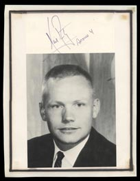 Neil Armstrong Signed Photo with Rare