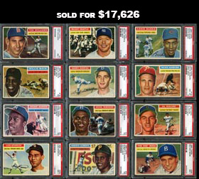 1956 Topps Baseball Complete PSA Graded Set of (340) Cards Plus Both Checklists--#51 on PSA Registry