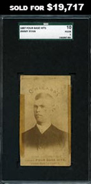 1887 Four Base Hits Jimmy Ryan SGC 10 Poor 1—Only Known & Previously Uncatalogued