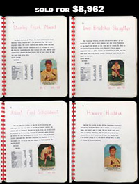 One-of-a-Kind 1953 Hunter Wieners St. Louis Cardinals Complete Set of (26) Cards with Incredible Provenance from Prize Winner!