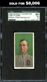 1909-11 T206 White Borders Ty Cobb (Green Portrait) SGC 60 EX 5--None Better!