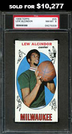 1969-70 Topps Basketball #25 Lew Alcindor Rookie--PSA NM-MT 8